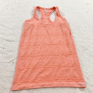 Saucony Running  coral stretch racer back tank top